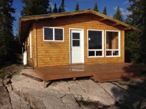 Wanzatika Lake outpost cabin